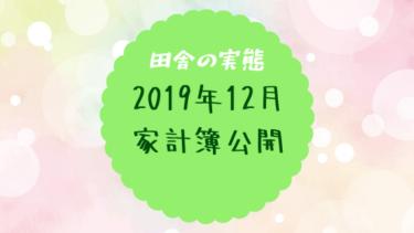 【田舎の実態】2019年12月の家計簿公開