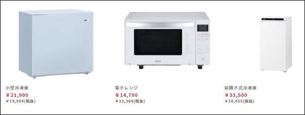 食宅便の家電製品